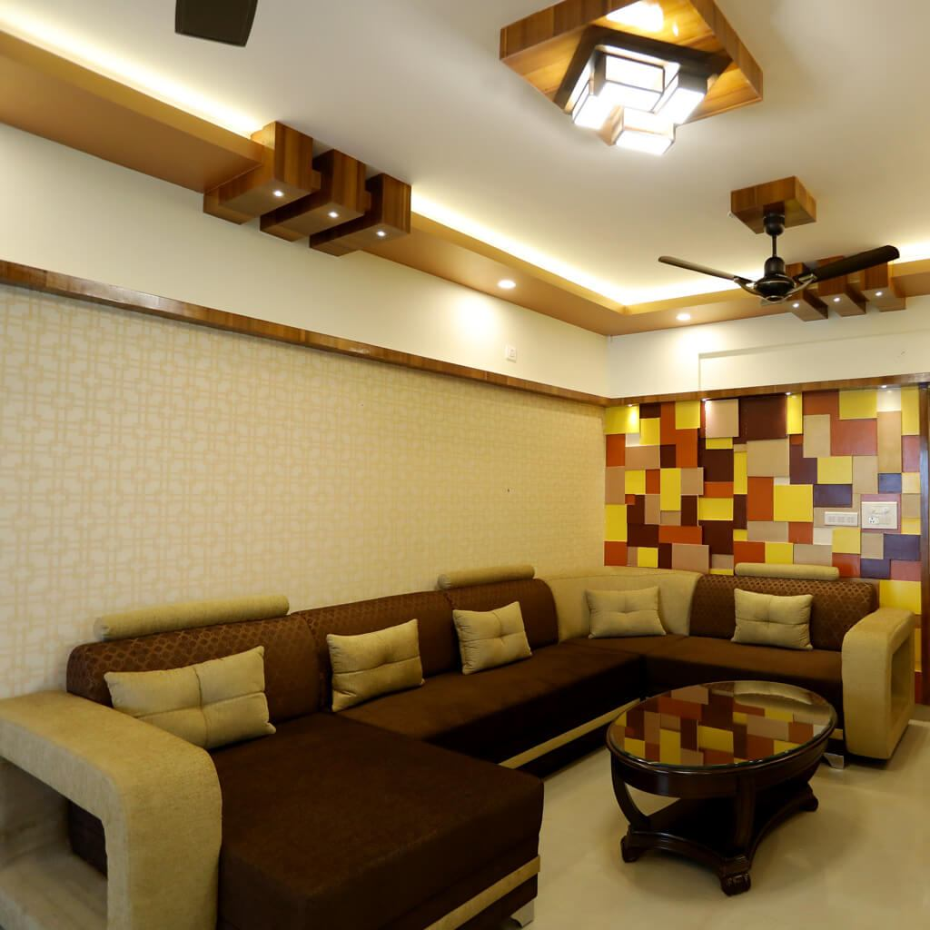 Living Room Mahaveer Maple Interior Design