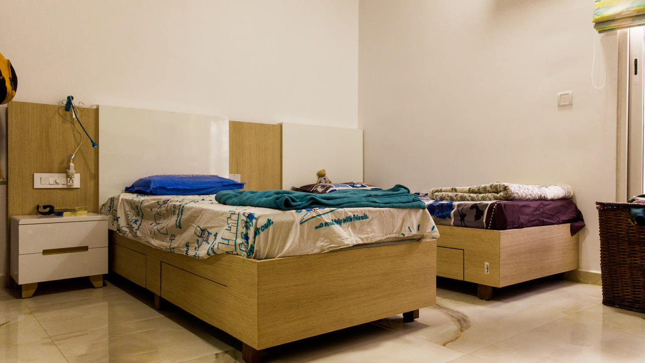Kids Bedroom Multipurpose Cot Interior Design Duke Richards Interiors Bangalore