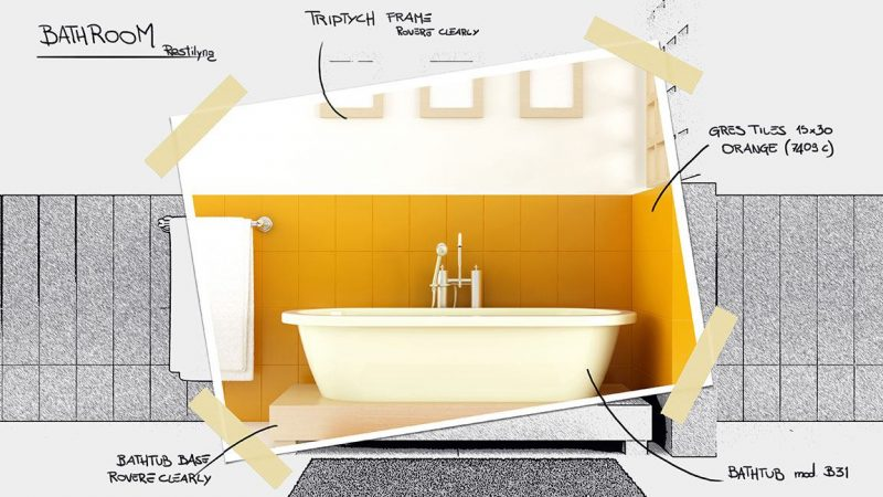 bathroom design interior design project